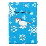 Regalos azules del navidad del unicornio de los co iPad mini cárcasa