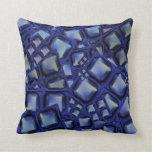 Regalos azules del romance del amor de los botones almohada