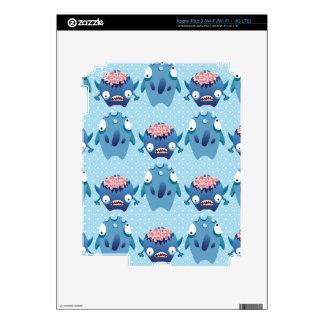 Regalos azules locos de las criaturas de la divers iPad 3 pegatinas skins