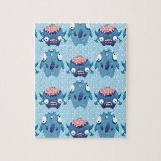 Regalos azules locos de las criaturas de la divers rompecabezas