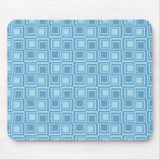 Regalos azules modernos del modelo de los cuadrado tapetes de ratones