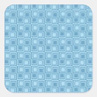 Regalos azules modernos del modelo de los pegatina cuadrada