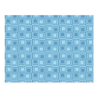Regalos azules modernos del modelo de los postal
