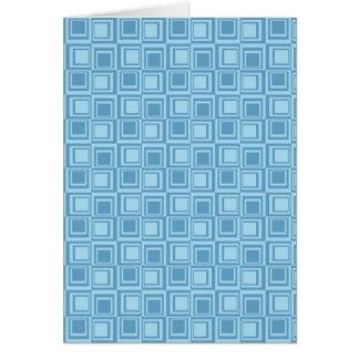 Regalos azules modernos del modelo de los tarjeta de felicitación