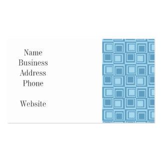 Regalos azules modernos del modelo de los tarjetas de visita