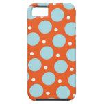 Regalos azules y anaranjados del modelo de lunares iPhone 5 Case-Mate cobertura