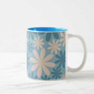 Regalos azules y del moreno bonitos del estampado  tazas de café