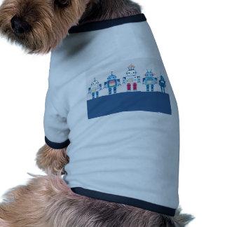 Regalos azules y rojos frescos de la novedad de lo camiseta de perrito
