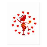 Regalos banales y camisetas del día de San Valentí Tarjetas Postales