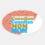 REGALOS baratos de la MAMÁ de Mothersday del Calcomanías Óvales Personalizadas