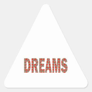 REGALOS BARATOS de la moda soñolienta del sueño Pegatina Triangular