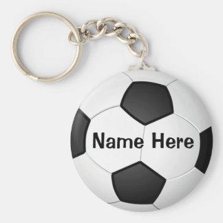 Regalos baratos personalizados del fútbol para los llavero redondo tipo chapa