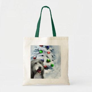 Regalos barbudos del navidad del collie bolsas