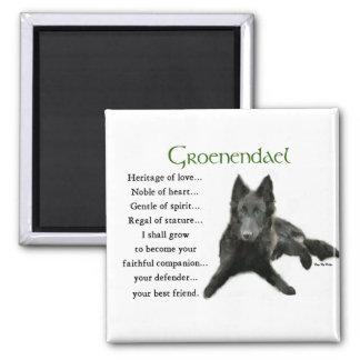 Regalos belgas del perro pastor de Groenendael Imán Cuadrado