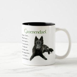 Regalos belgas del perro pastor de Groenendael Tazas De Café