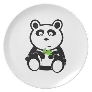 Regalos blancos del destino del negro del oso de p platos