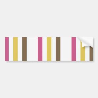 Regalos blancos del modelo de las rayas de Brown d Pegatina Para Auto
