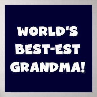 Regalos blancos del texto de la abuela del Mejor-E Posters