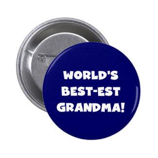 Regalos blancos del texto de la abuela del Mejor-E Pin Redondo 5 Cm