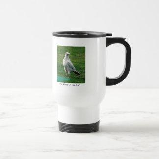 Regalos blancos raros del cuervo taza de viaje de acero inoxidable