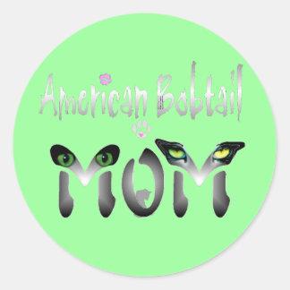 Regalos Bobtail americanos de las mamáes Pegatina Redonda