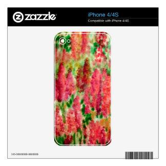 Regalos bonitos soleados del jardín de flores skins para eliPhone 4