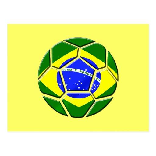Regalos brasileños del balón de fútbol del futebol postales