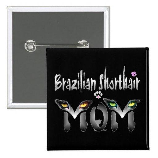 Regalos brasileños del gato del shorthair pins