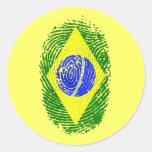 Regalos brasileños del orgullo del Brasil de la hu Pegatinas Redondas