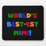 Regalos brillantes de las camisetas de los colores mouse pads