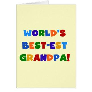 Regalos brillantes de los colores del abuelo del M Tarjeta De Felicitación
