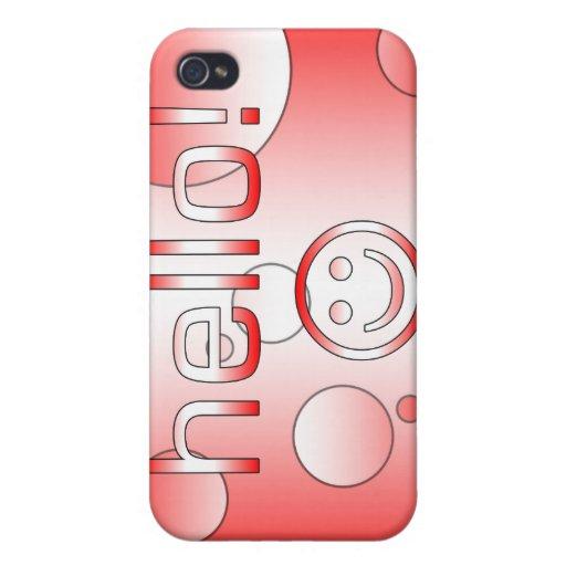 Regalos canadienses: Hola + Cara sonriente iPhone 4/4S Funda