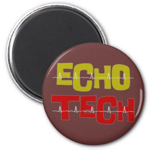 Regalos cardiacos de la tecnología del eco imán redondo 5 cm