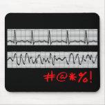 Regalos cardiacos divertidos de la tira del ritmo tapetes de ratón