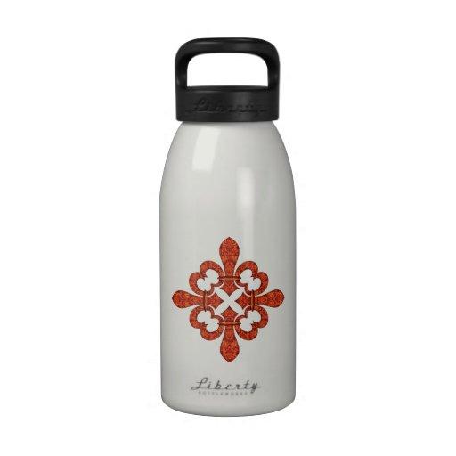 Regalos carmesís de la flor de lis del jardín botella de agua reutilizable