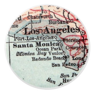 Regalos caseros Los Ángeles California de la playa Pomo De Cerámica