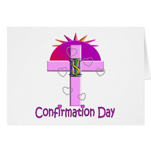 Regalos católicos del día de la confirmación para  tarjetas