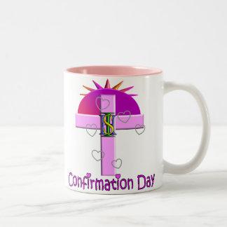 Regalos católicos del día de la confirmación para  taza de café