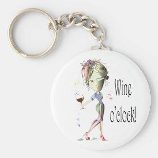 Regalos chistosos del arte del vino del en punto d llavero