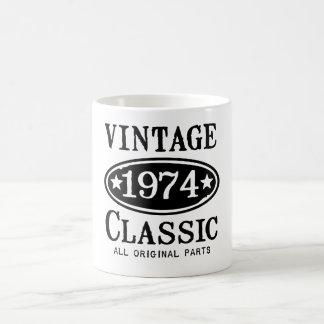 Regalos clásicos del vintage 1974 taza de café