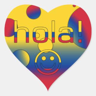 Regalos colombianos: Hola/Hola + Cara sonriente Pegatina En Forma De Corazón