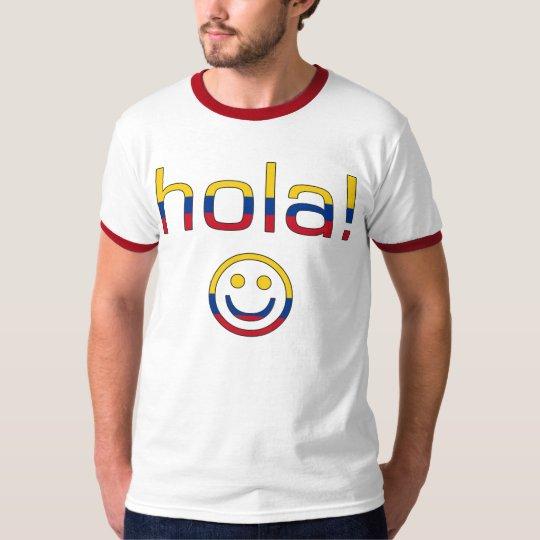 Regalos colombianos: Hola/Hola + Cara sonriente Playera