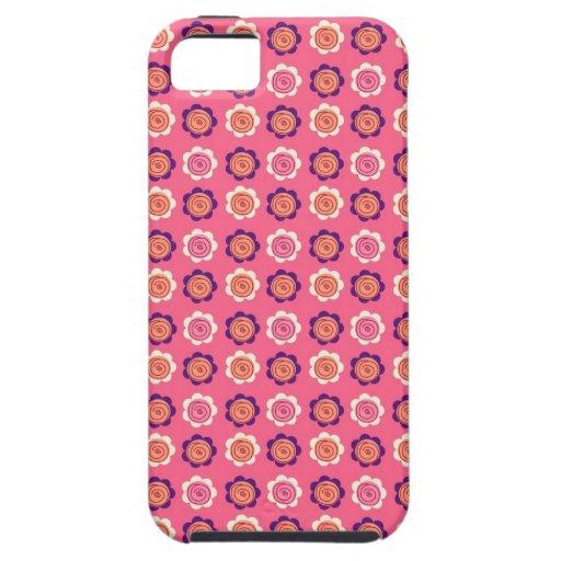 Regalos color de rosa rosados y púrpuras del funda para iPhone 5 tough