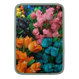 Regalos coloreados multi florales de la flor de funda macbook air