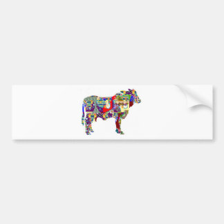REGALOS coloridos animales de los E.E.U.U. del Pegatina Para Coche