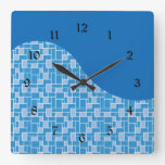 Regalos coloridos azules frescos del modelo de ond reloj de pared