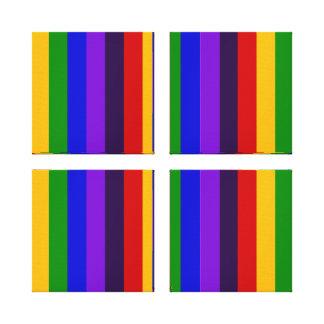 Regalos coloridos clásicos de las rayas verticales lona estirada galerías