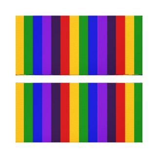 Regalos coloridos clásicos de las rayas verticales impresiones de lienzo