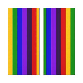 Regalos coloridos clásicos de las rayas verticales lona envuelta para galerias