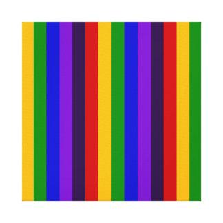 Regalos coloridos clásicos de las rayas verticales impresion en lona